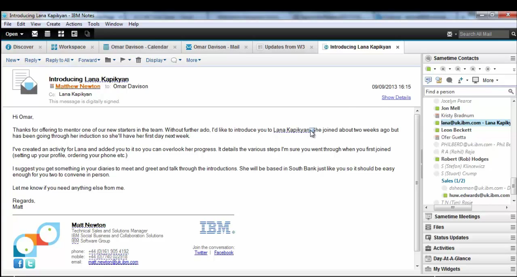 IBM notes email